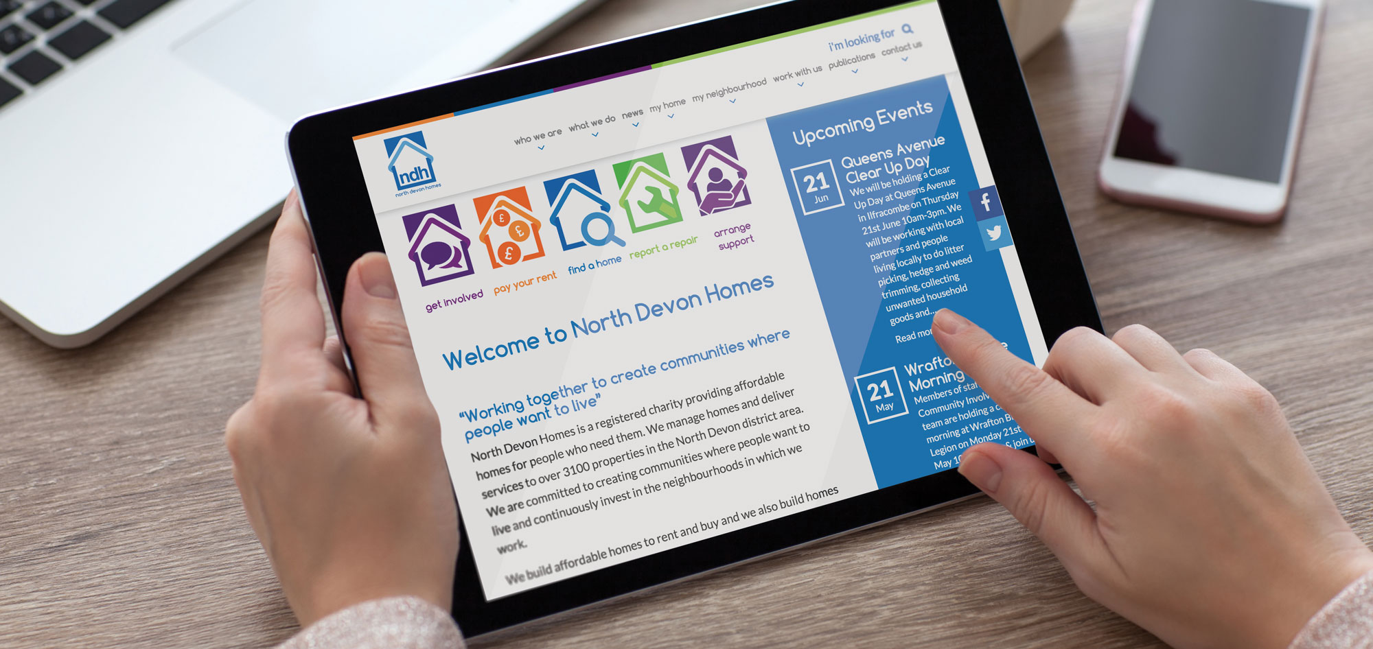 Charity Website in Drupal 8 for North Devon Homes