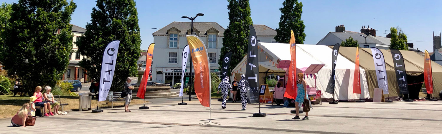 Talo Homes Branded feather flags