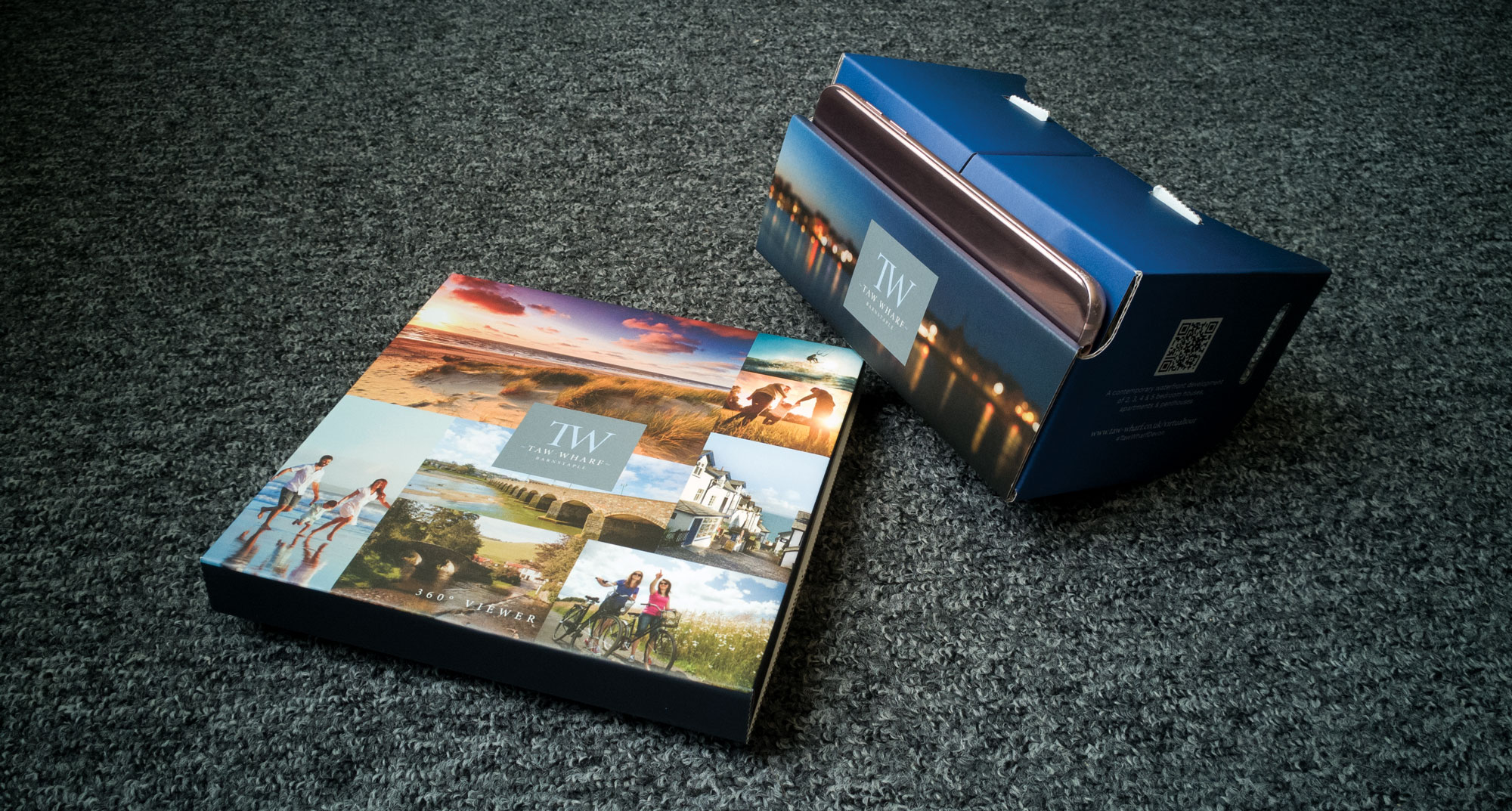 Anchorwood Bank Taw Wharf Virtual Tour Headset and Packaging