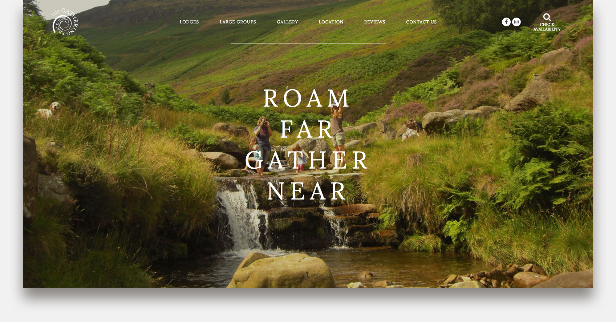 The Gathering Edale Website Homepage Design