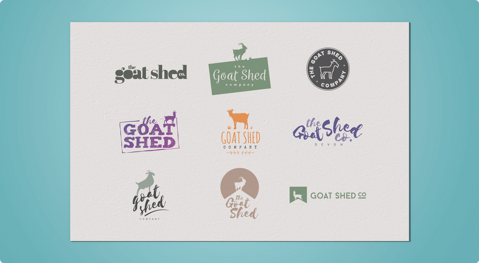 The Goat Shed Company Logo Design Proposals