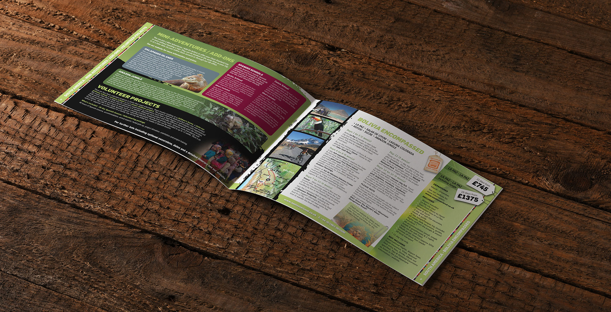 Recycled Paper Stock Brochure Oasis Overland