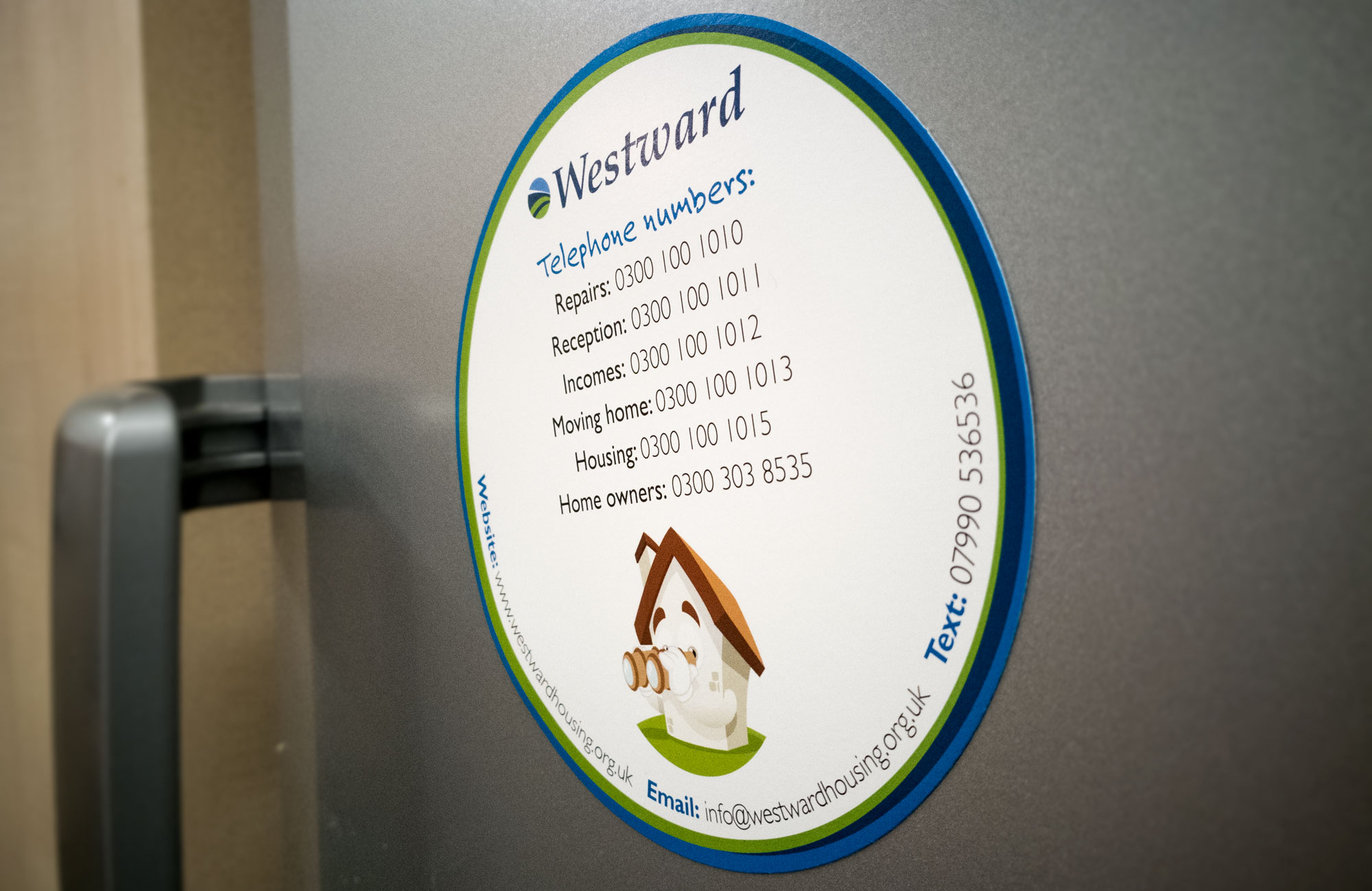 Magnetic paper stock Westward Housing Fridge Magnets
