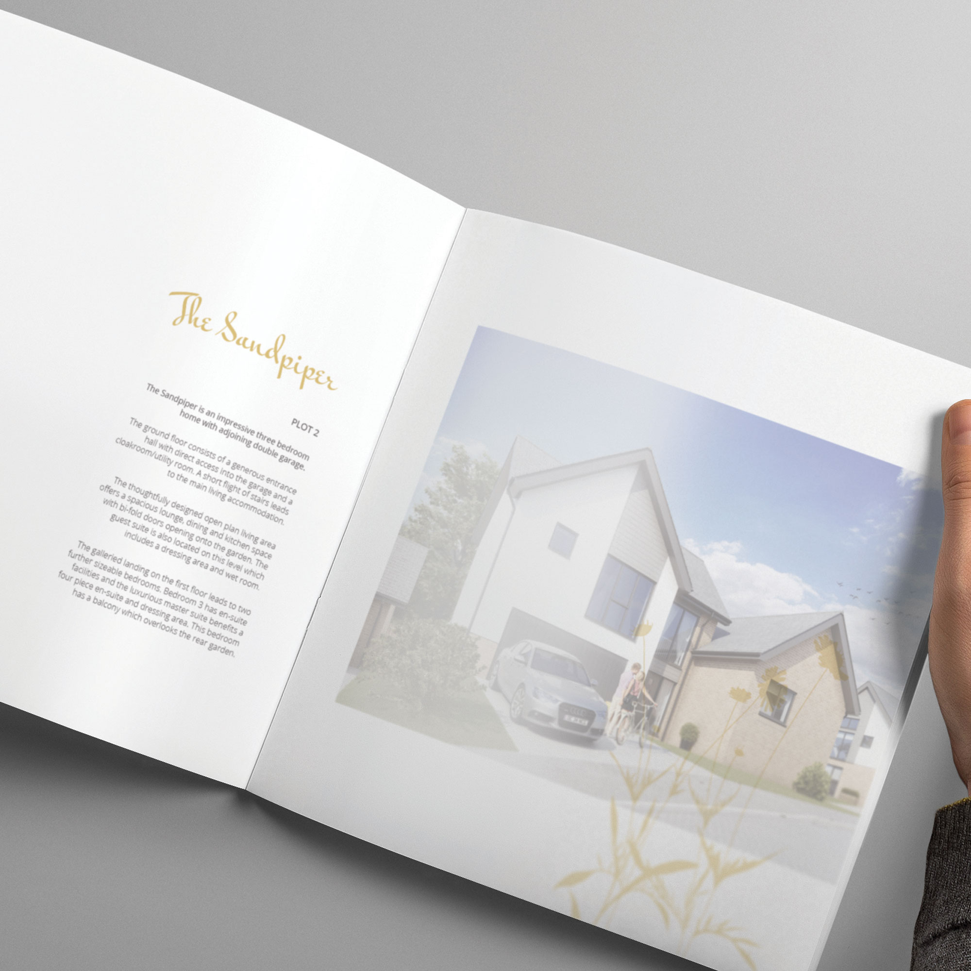 Pearce Homes luxury housing brochure design and print Devon