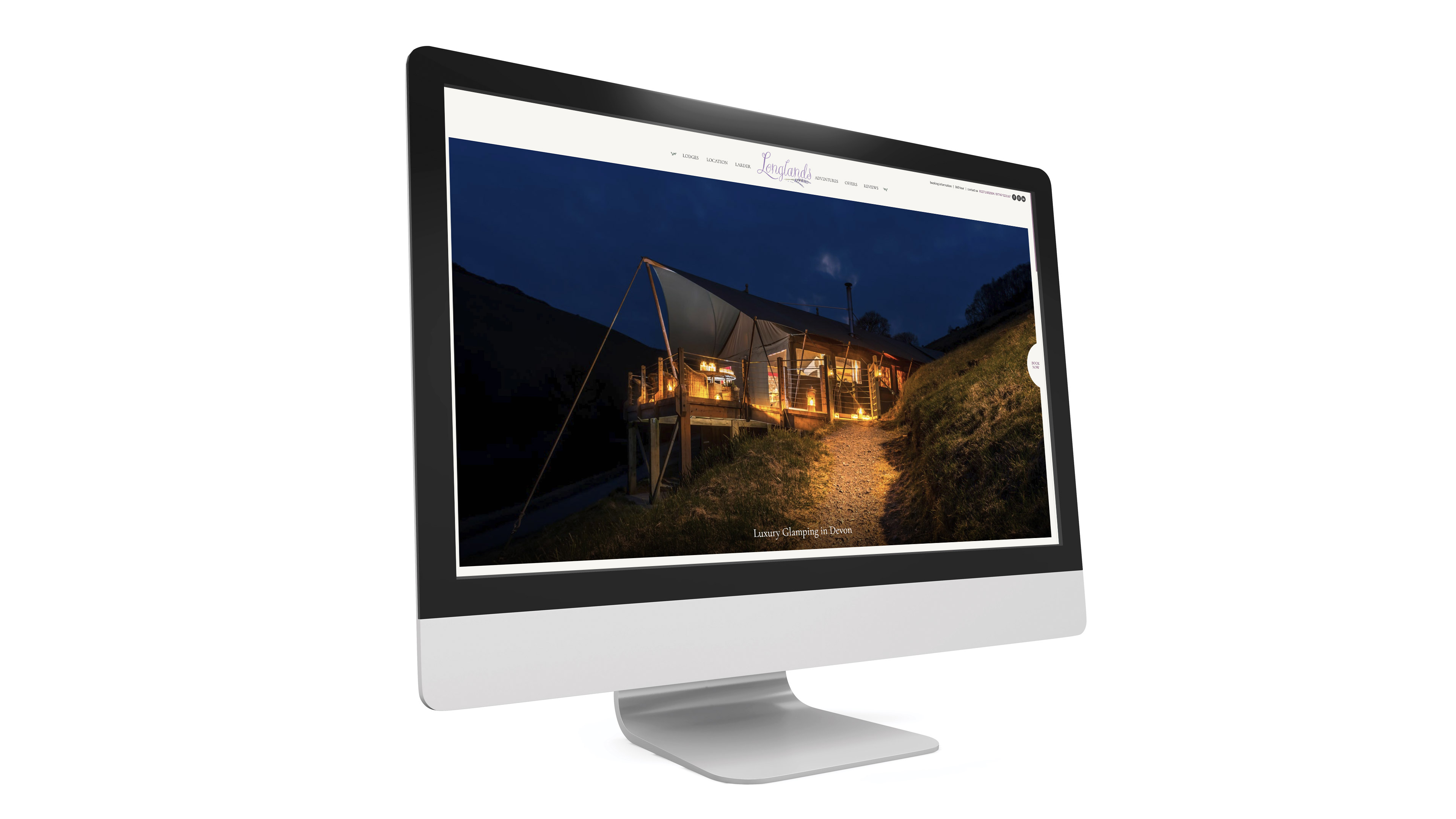 Longlands Luxury Glamping Wordpress Website