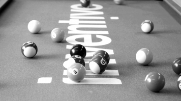 Branded Pool Table at the Inventive Design Offices