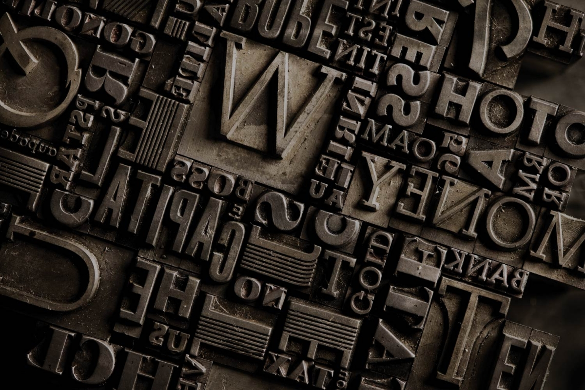 Typography Letterpress Blocks