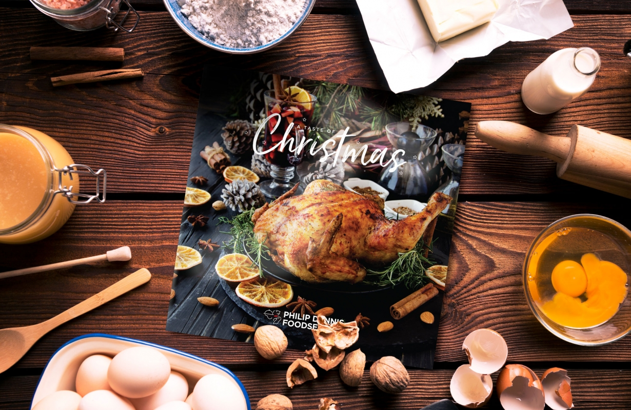 Philip Dennis Foodservice Promotional Taste of Chrismas Brochure Design