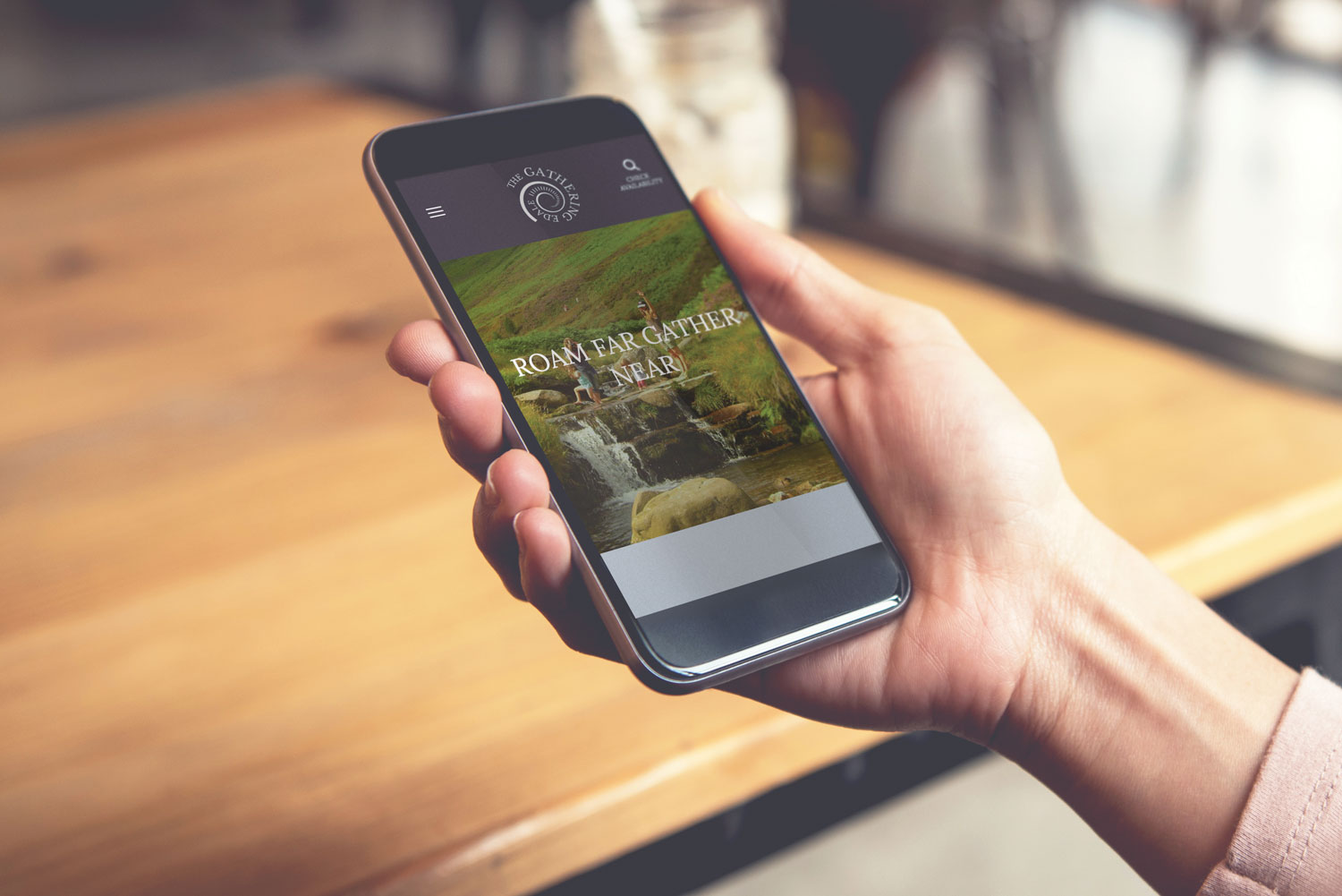 Website Design for Glamping company The Gathering Edale